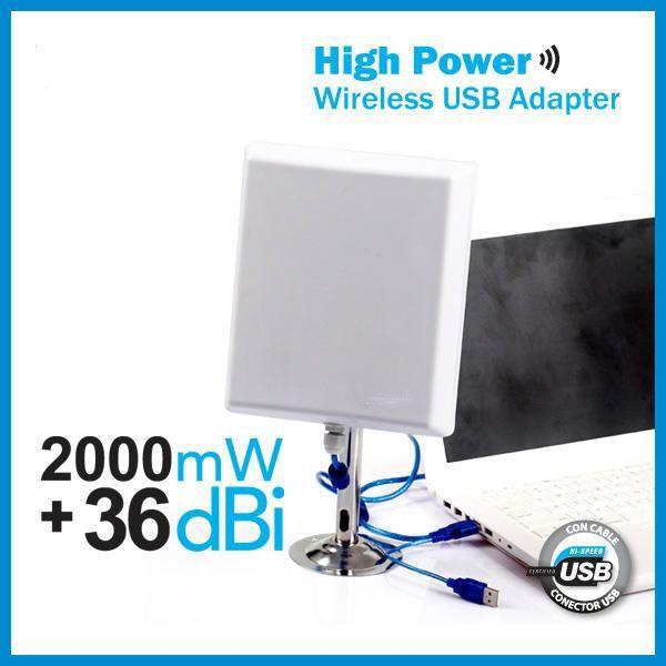 Mejorar la conexión por USB de antenas WiFi potentes en ordenadores y portátiles con Windows