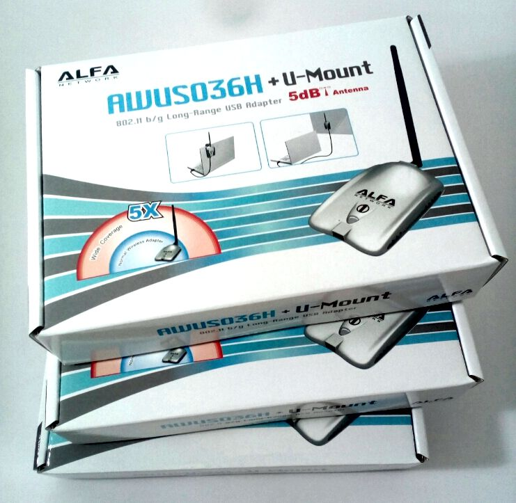 El adaptador WiFi USB Alfa AWUS036H con chip RTL8187 funciona con Windows 10