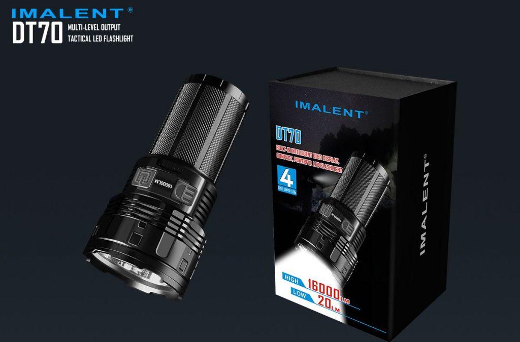 Revisão da lanterna recarregável IMALENT DT70 16000LM