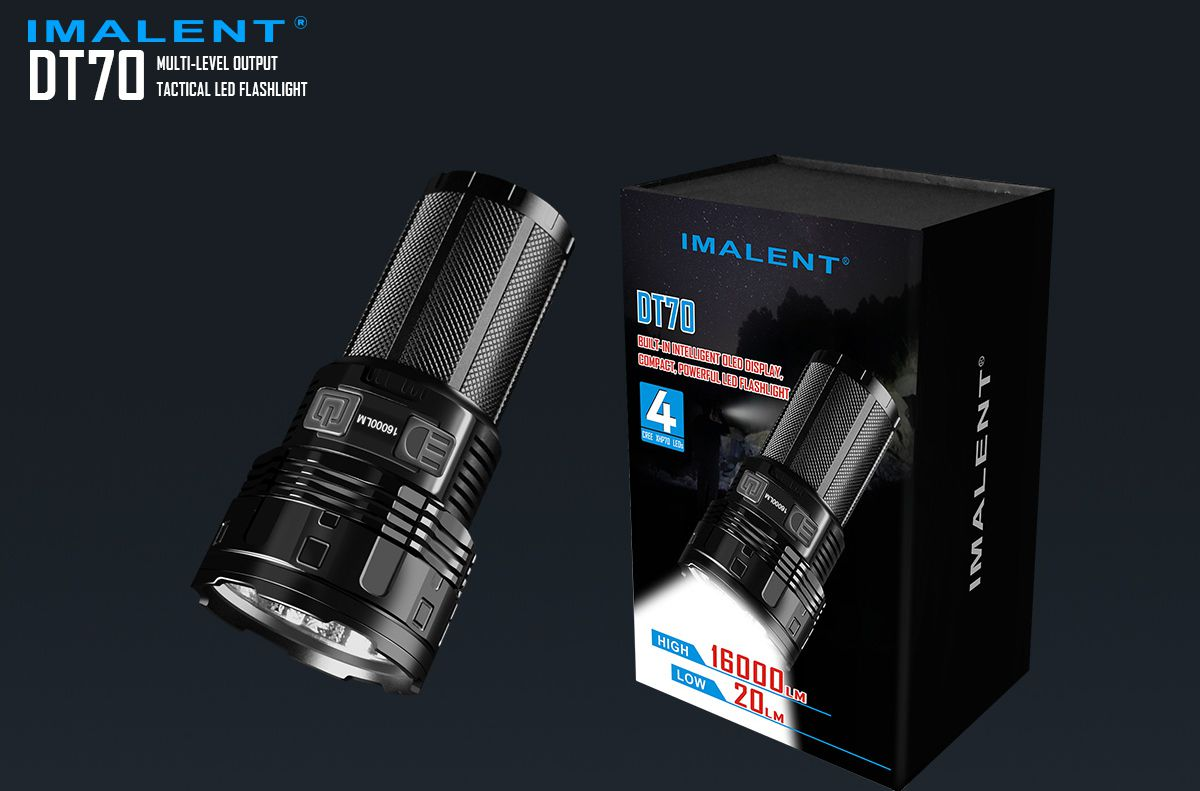 Revision of the Imalent DT70 16000LM Rechargeable Flashlight