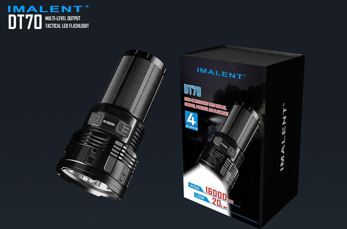 Revisión de la Linterna Recargable Imalent DT70 16000LM