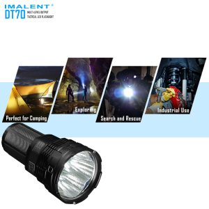 Rechargeable LED flashlight Imalent DT70 4 LED XHP70 16000 LM 700m
