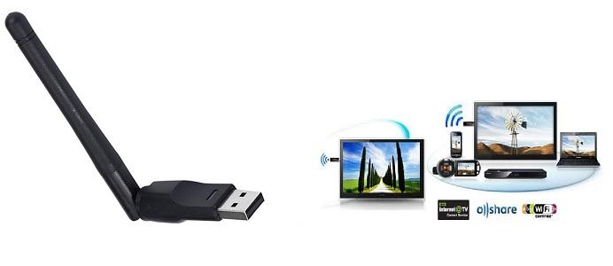 El Adaptador WiFi para TV que permite conectar una televisión con USB a internet