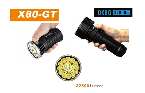 Comparison imalent DX80 vs. Acebeam X80-GT