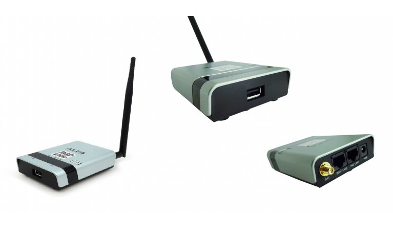 Router alfa R36A, conectar um receptor WiFi compatível para USB