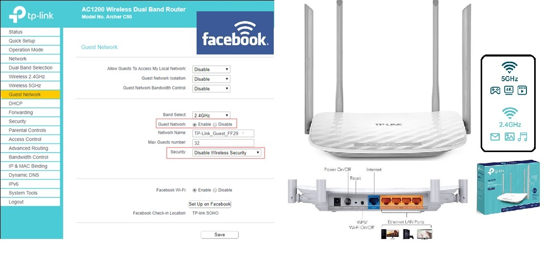 ▷ Facebook WiFi Configure with TP-Link EC50 Router to attract