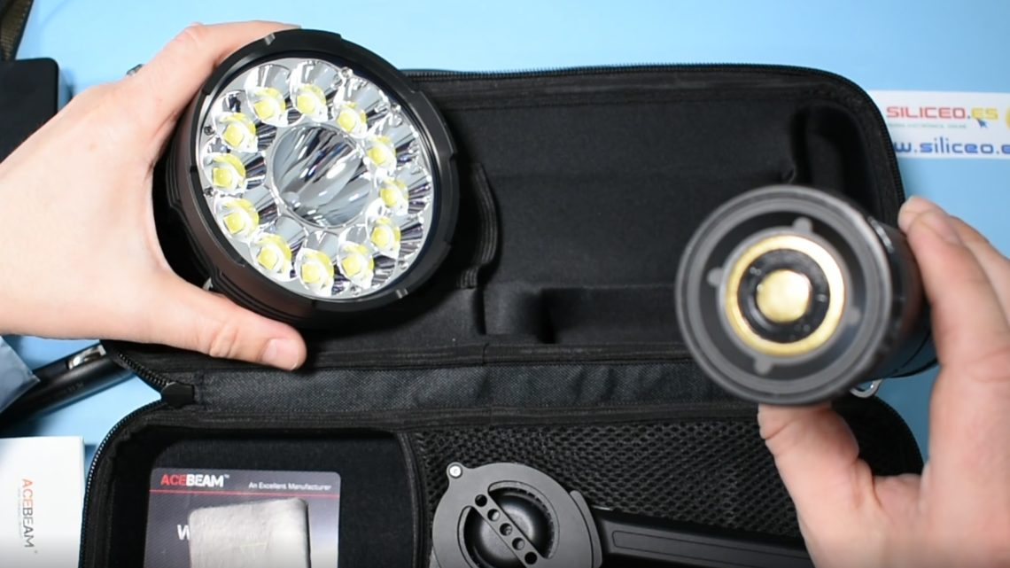 Acebeam X70 review 60000 lumen flashlight
