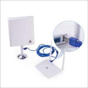 36dbi antena Panel WIFI Melon N4000 cable USB 10m 2W 2000mw