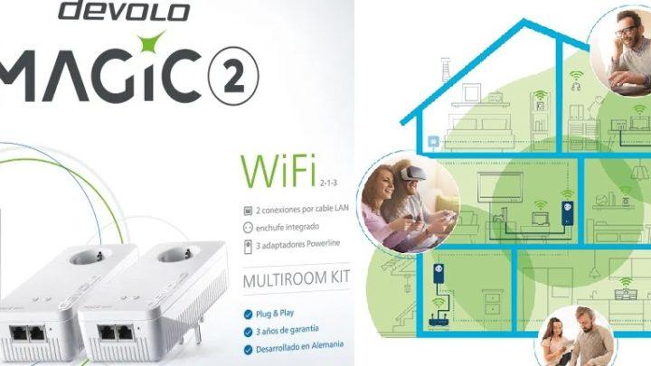 Los PLC Devolo Magic 1 y 2 WiFi Mesh hasta 2400mbps y 500 metros de alcance.